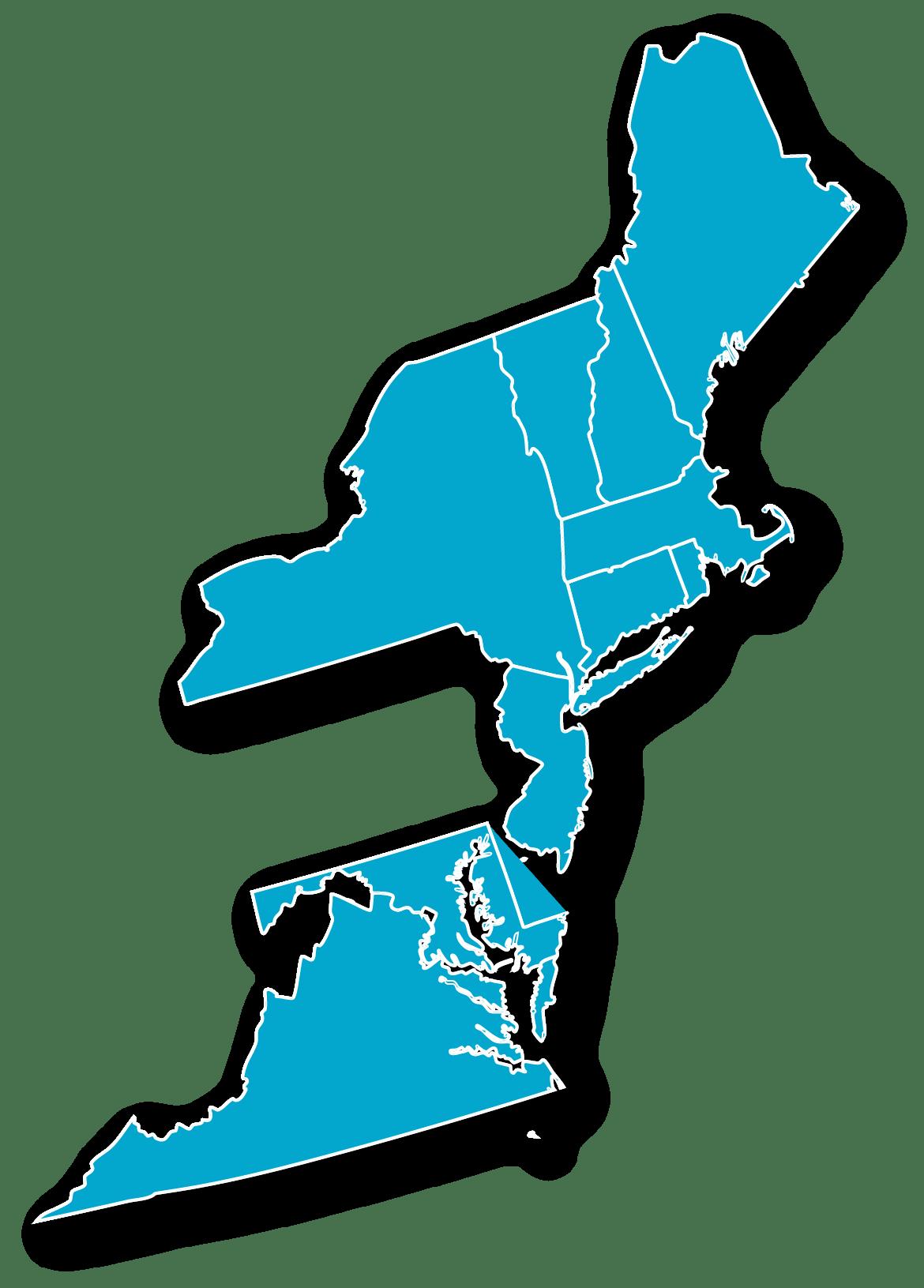 Northeast Map Blue@4x
